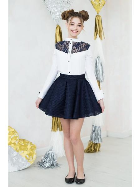 Школьная блузка для девочки «к-4» изображение