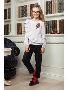 школьная блузка для девочки «sh-41»