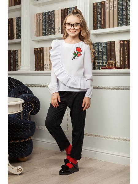 школьная блузка для девочки «sh-41» опт цена от производителя