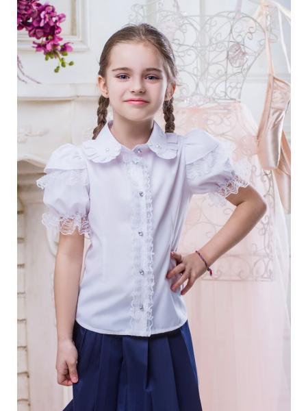 Школьная блузка для девочки sh11 фото