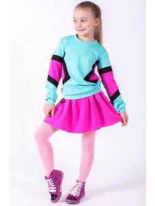 Комплект юбка+кофта Радуга