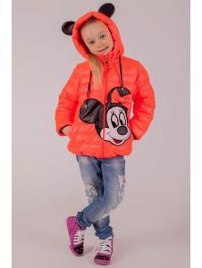 Демисезонная куртка для девочки Микки