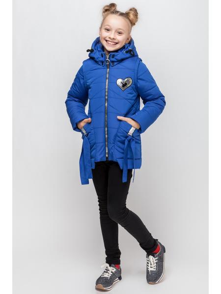 Куртка для девочки демисезонная Бантик  опт цена от производителя