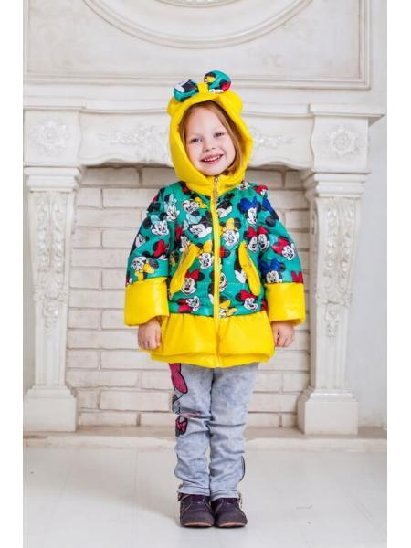Весенняя куртка для девочки Микки фото