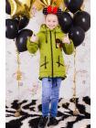 Весенняя куртка для девочки «значки» изображение-5
