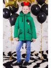 Весенняя куртка для девочки «значки» изображение-6