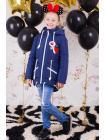 Весенняя куртка для девочки «значки» изображение-7