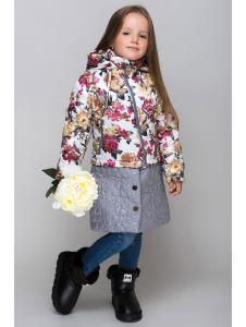 весенняя куртка-трансформер с отстежной юбкой «роза»