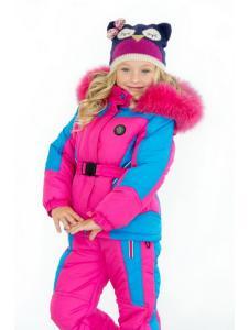 Зимний детский комбинезон для девочек Буковель