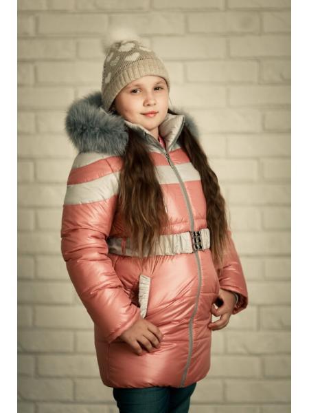 Зимняя детская куртка для девочки Маша фото