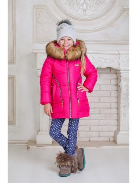 Зимняя куртка для девочки Змейка фото