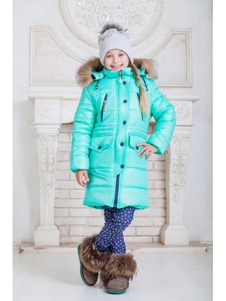 Зимняя куртка для девочки Звезда фото