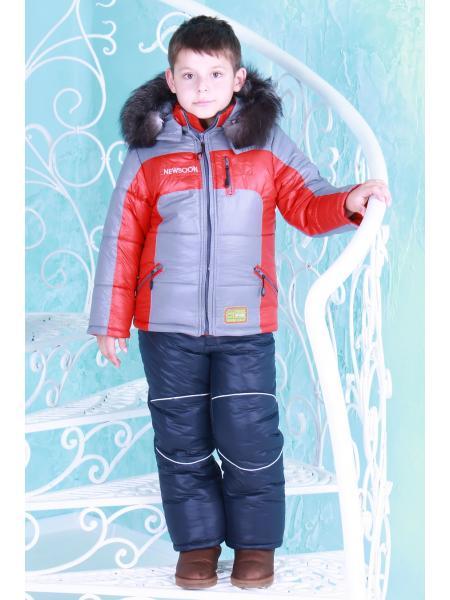Фото товара — Комбинезон зимний для мальчика «енот»