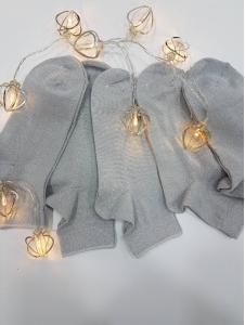 Носки  подростковые золото-серебро