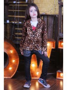 Детский пиджак Леопард