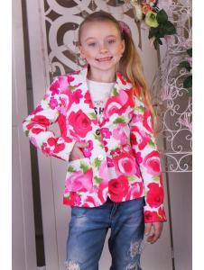 Детский пиджак Цветы
