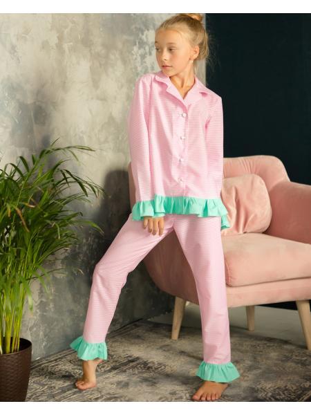 Пижама Для Девочки «Полоска» изображение