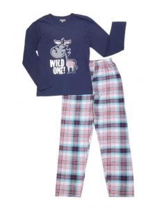 Пижама для мальчика Клетка