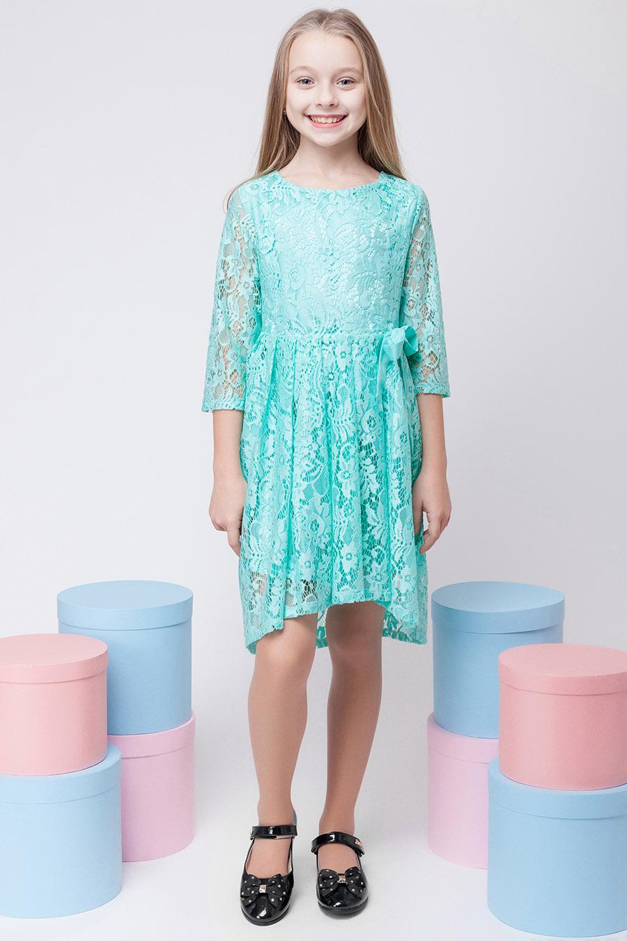 Нарядное платье для девочки «гипюр-1»