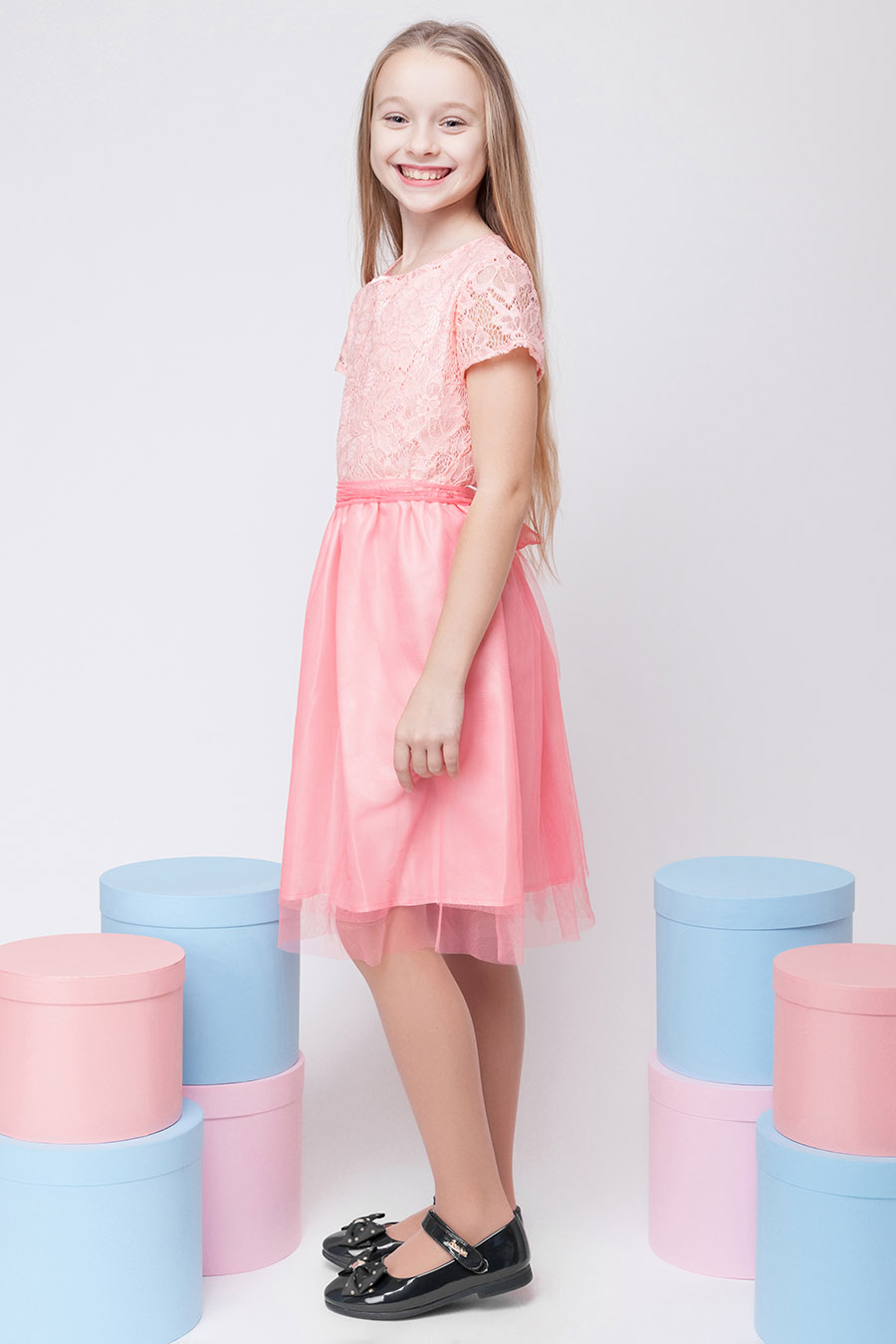 Нарядное платье для девочки «гипюр-3»