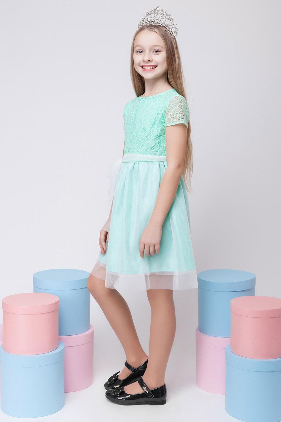 Нарядное платье для девочки «гипюр-4»
