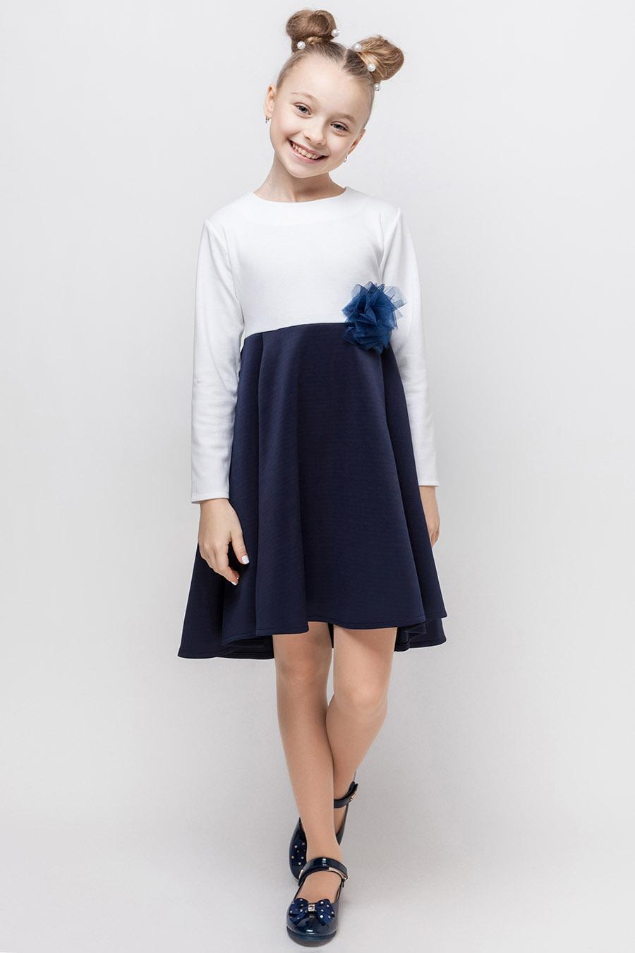 Платье для девочки «синяя роза»