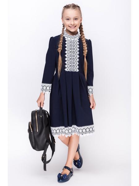 школьное платье для девочек «sh-55» изображение