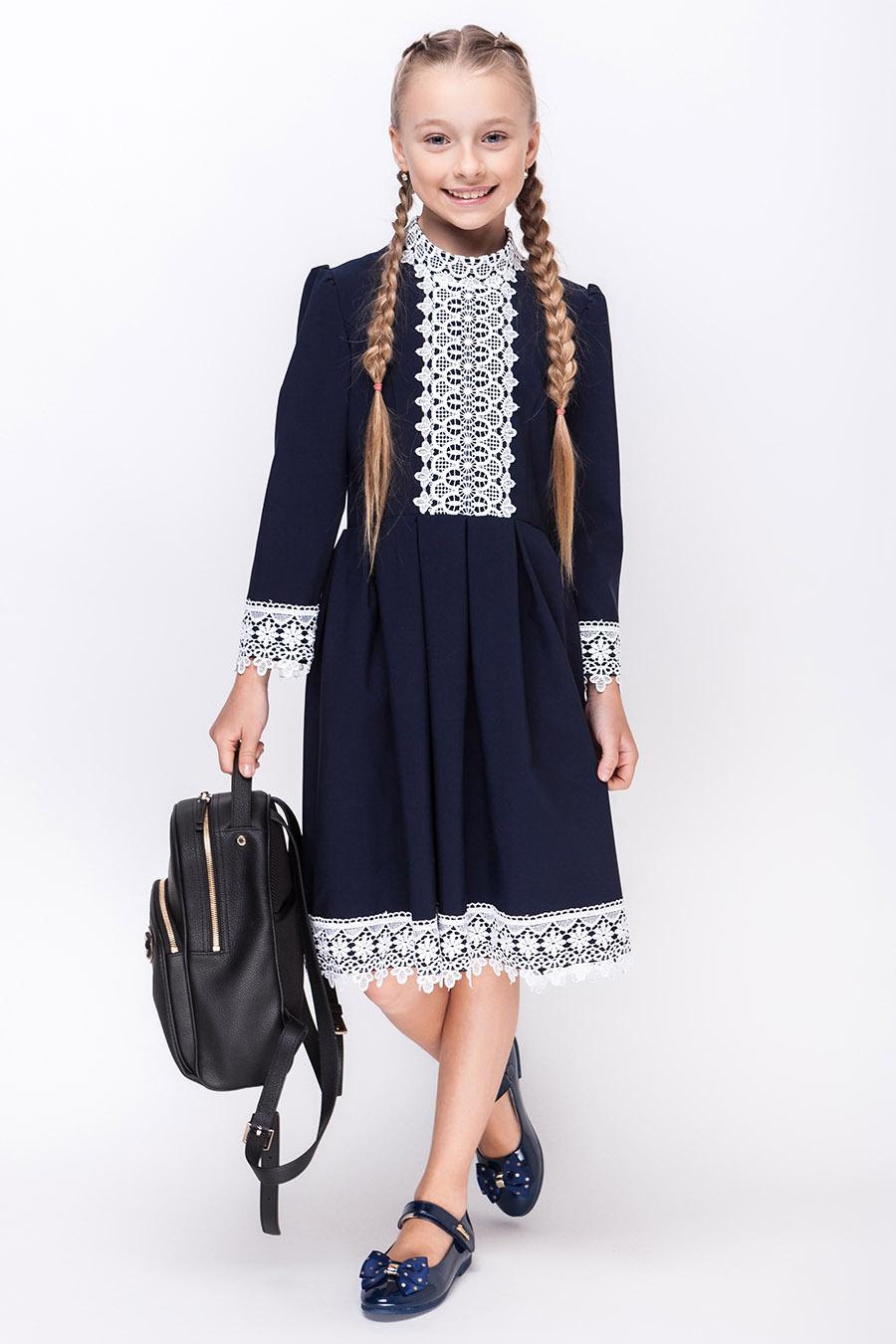 Школьное платье для девочки «sh-55»