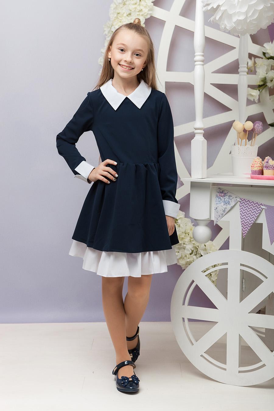 Школьное платье для девочки «sh-43»