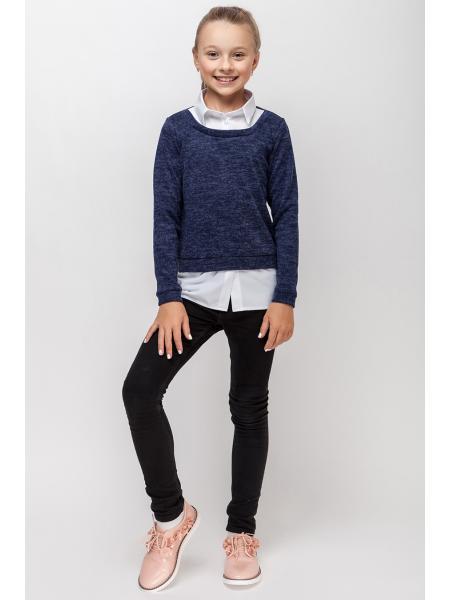 Школьный Рубашка Для Девочек «Люкс» опт цена от производителя