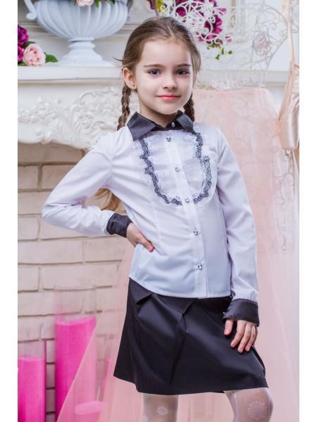 Школьная блузка для девочки sh10