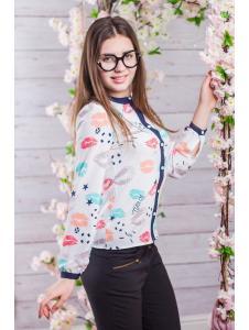 Школьная блузка для девочки sh19