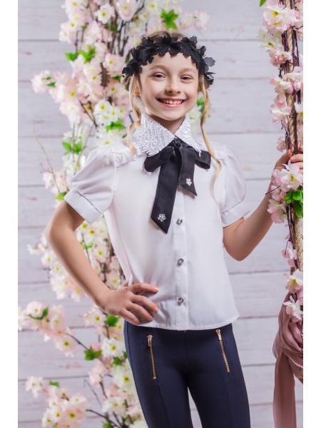 Школьная блузка для девочки sh23 фото