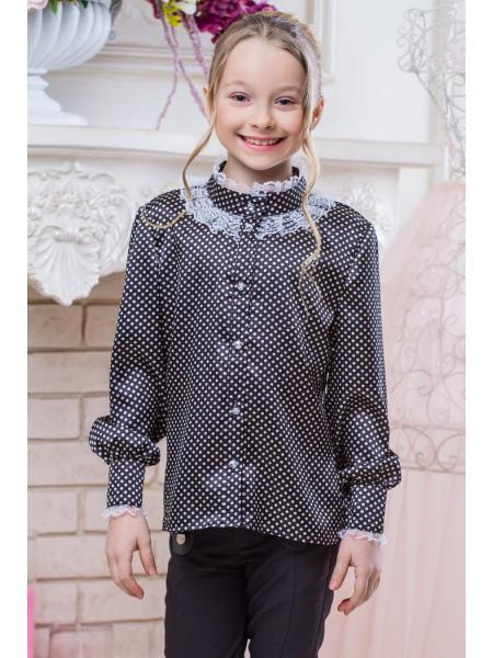 Школьная блузка для девочки sh8 фото