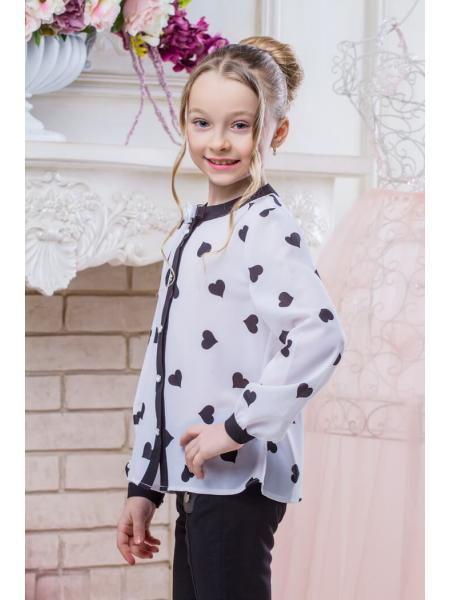 Школьная блузка для девочки SH-9 фото
