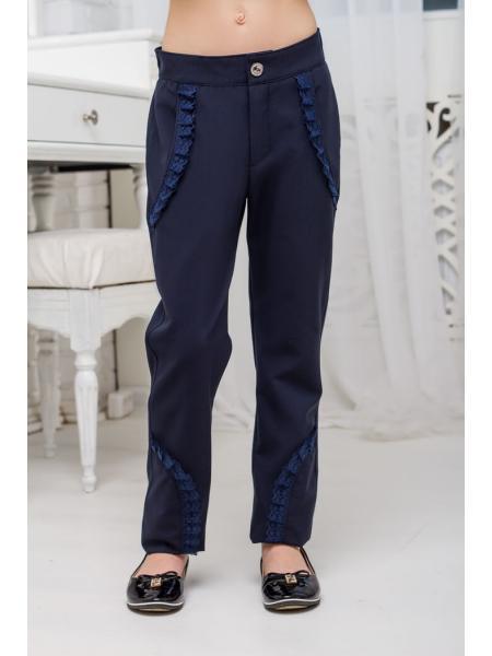 Школьные брюки для девочки sh24 фото