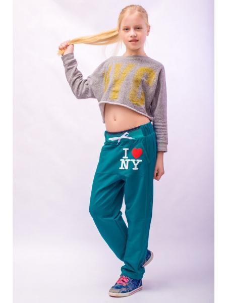 Модные штаны для девочки New York фото