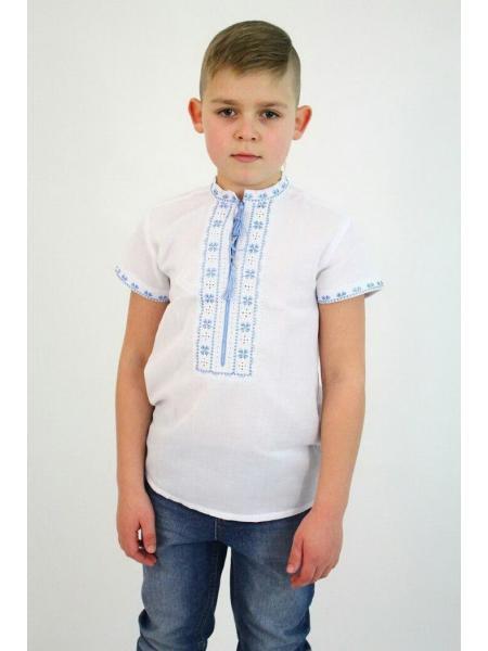 Детская вышиванка для мальчика Івасик домотканка