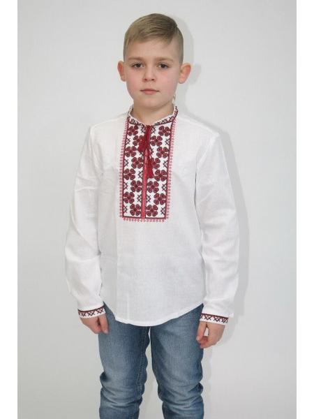 Детская вышиванка для мальчика Васильок Бавовна