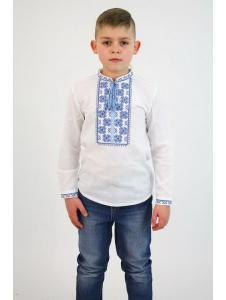 Детская вышиванка для мальчика Васильок(дубляж)