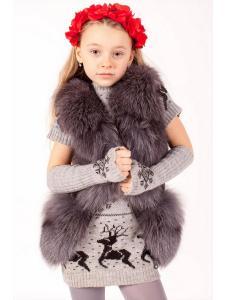 Детская жилетка из натурального меха