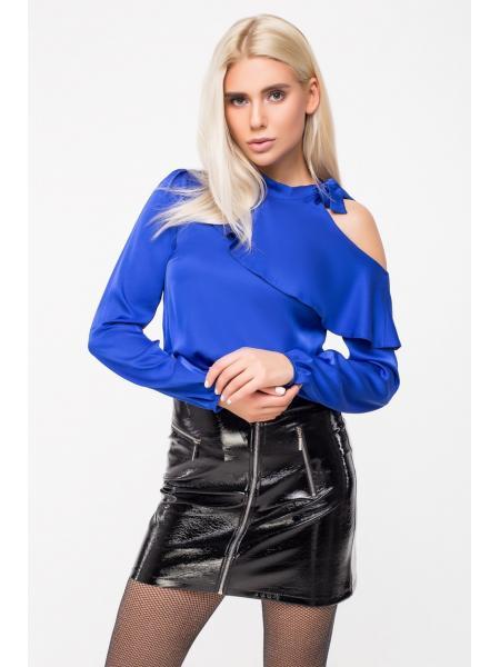 Блузка голое плечо Шёлк изображение