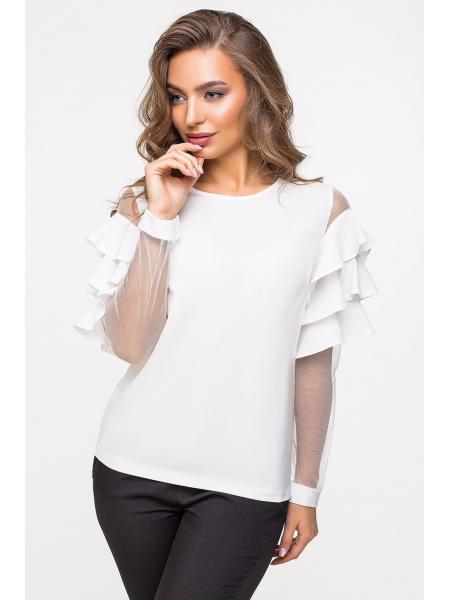 Блузка тройной волан  Суперсофт  изображение