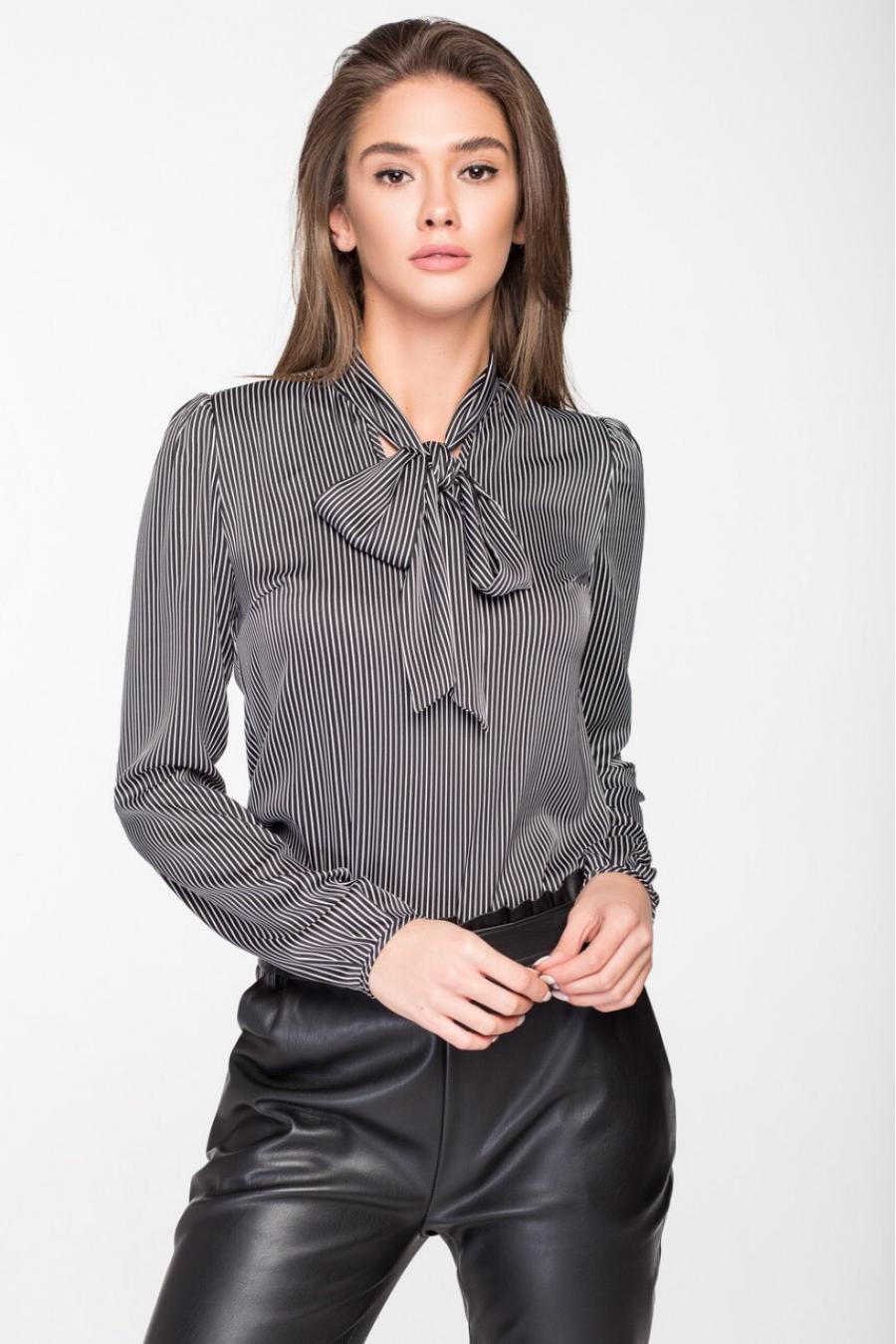 f1443ba14ea Женская блузка «Бант» Шёлк ~ Купить Оптом От (5+)