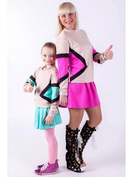 Комплект Радуга (мама + дочка) фото