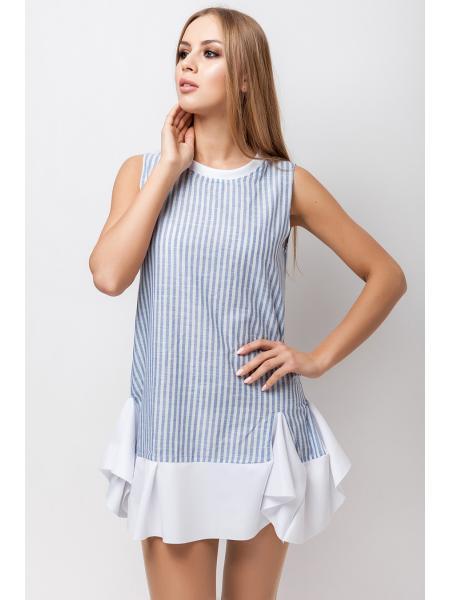 Платье хлопок Полоска опт цена от производителя