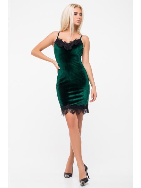 Платье Комбинация Велюр опт цена от производителя