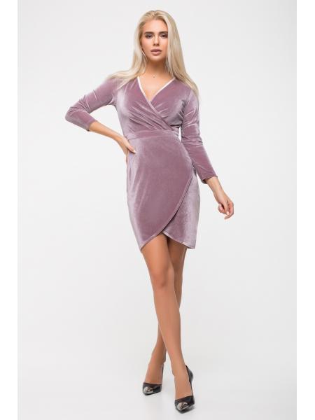 Платье трикотаж велюр  опт цена от производителя