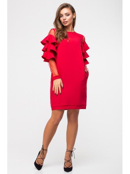 Платье волан-рукав опт цена от производителя