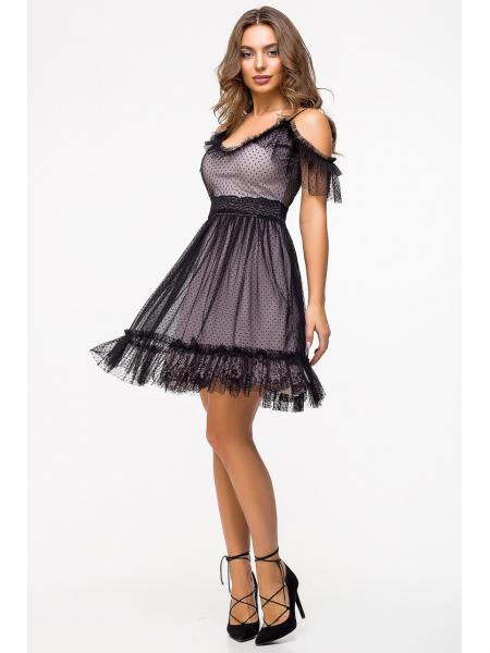 Женское нарядное платье Горох опт цена от производителя